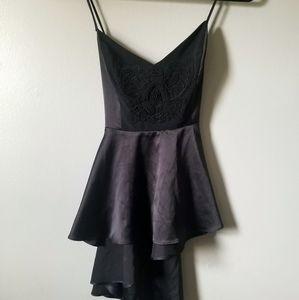 Bebe Silky black sleeveless baby doll top size M
